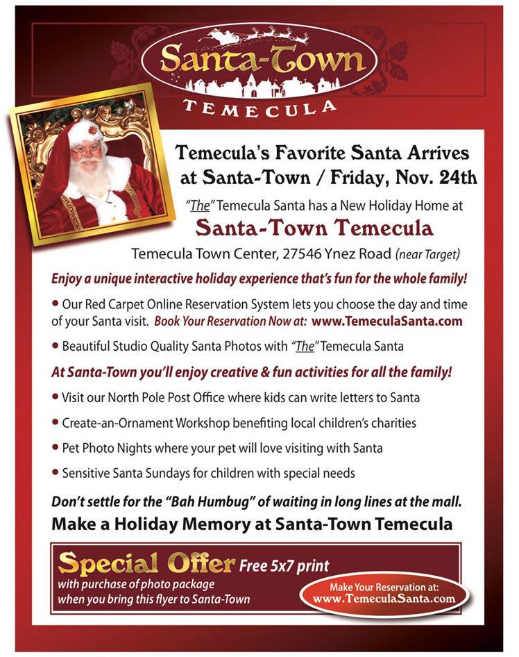 Santa Town is at Temecula Town Center - temeculatc.com