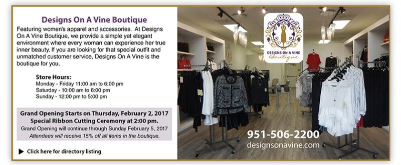 Designs on a Vine boutique - Temecula Town Center - temeculatc.com